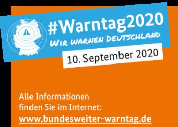Information bezüglich des bundesweiten Warntags am 10.9.2020
